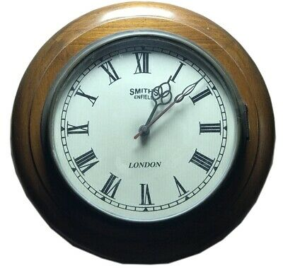 Nautical Watch Time Wooden Decor Antique Smith Enfield London Wall Clock WC 034