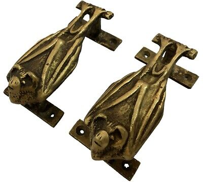 Brass Knocker Vampire Bat Gothic Style Lacquer Finish Antique Door Handles HD 09