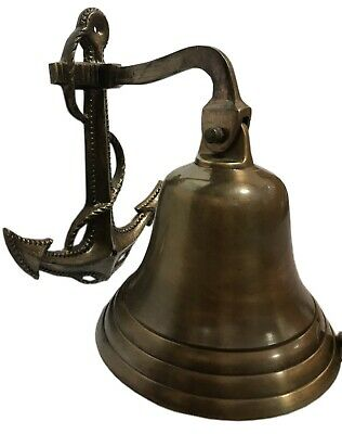 Superb Antiquated Brass Home Wall Décor Marine Nautical Door Mooring Bell BB 016