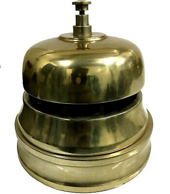 Large Size Heavy Home Décor Art Office Desk Table Class Quality Brass Bell BB 08