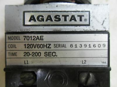 (S1-2) Agastat 7012Ae Time Delay Relay