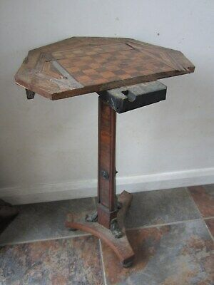 Antique Octagonal Side Table - Needs Lots Of Work