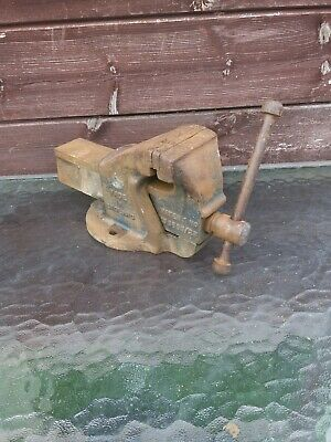 "Record No. 2 Engineers Mechanics Bench vice England 3.5"" 90mm jaws"