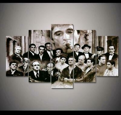Gangsters Scarface Al Pacino Movies Character Canvas Prints Painting Wall Art 5P