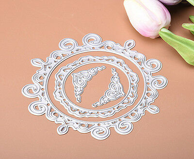 4pcs/set Lace Metal Cutting Dies Stencil For Scrapbooking Card Embossing New