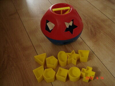 Vintage Tupperware Ball Shape Sorter Toy Complete