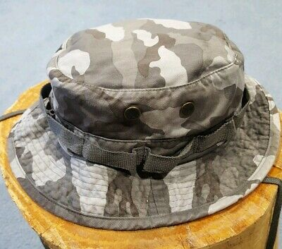 e3d2242de42fb Rapid Dominance Gray Camo Military Boonie   Bucket Hat Mens Large New No  Tags