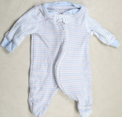Koala Baby Preemie Baby Boy Blue & White Striped Footed Outfit