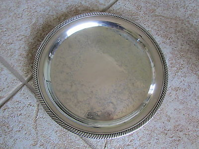 "Castleton Silver Plated 10"" Plate serving  #670"