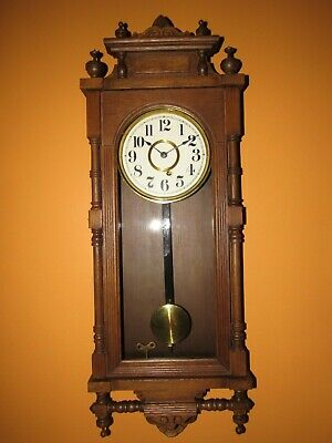 Antique Ansonia Queen Elizabeth Time Wall Clock, 8-Day