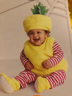 408222675 NWT Yellow Pineapple Infant Halloween Costume 0-6 months Hyde and Eek Baby