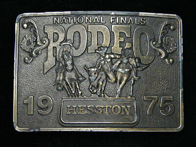 Rc05171 Used Nfr ***1975 National Finals Rodeo*** Hesston Collector Belt Buckle
