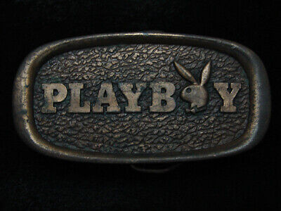 RC15132 VINTAGE 1970s **PLAYBOY** MAGAZINE ADVERTISEMENT BELT BUCKLE