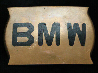 PF05165 VINTAGE 1970s **BMW** AUTO CAR COMPANY SOLID BRASS BELT BUCKLE