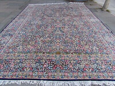 Antique Traditional Hand Made Persian Oriental Wool Blue Large Carpet 477x341cm