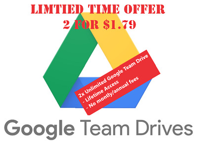 UNLIMITED GOOGLE DRIVE x2⚡🔥 LIFETIME ACCESS BUSINESS ACC NOT EDU⚡🔥 FOR $1.79