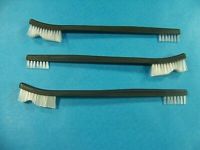 Lot of 3 Nylon Double End Brush Perfect For Rifle Pistol Gun Cleaning Kit NEW!!
