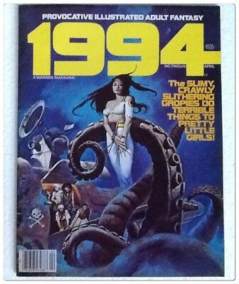 1994 No.12 April 1980 illustrated Adult Space/Fantasy magazine Warren Publishing