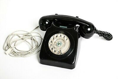 Vintage Retro BT black Rotary Dial Telephone in Working Order.
