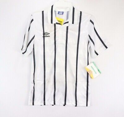13d0ad74e65 Vintage 90s New Umbro Mens Small Short Sleeve Striped Soccer Jersey Black  USA