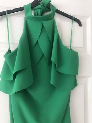 Quiz Green Bodysuit With  Ruffle Detail - New With Tags Size 14