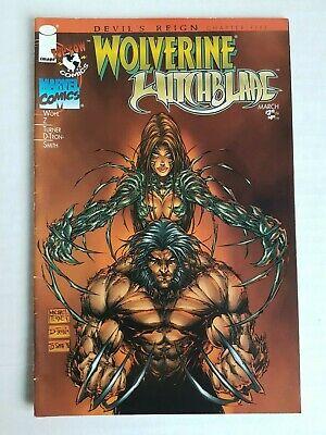 Marvel comics Wolverine Witchblade # 1 Top Cow March 1997