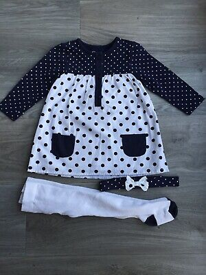 Primark Baby Girl Dress, Tights And Headband set 9-12 Months