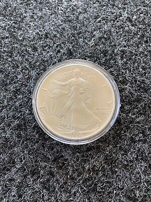 1986 American Silver Eagle Dollar 1oz Bullion Coin In Capsule *NO RESERVE*