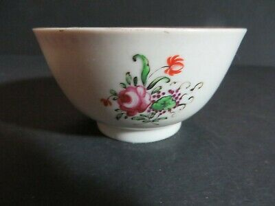 Chinese Export Floral  Late 18th Century Tea Bowl