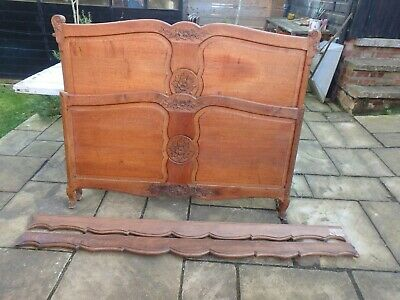Antique/Vintage carved french oak double bed