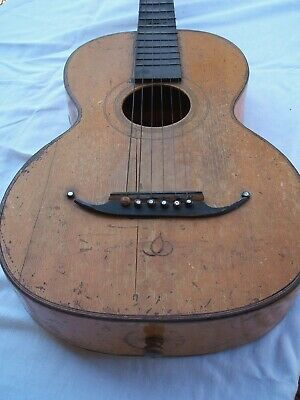 Old Antique Parlor Guitar For Restoration Antike Gitarre Guitarra Antigua