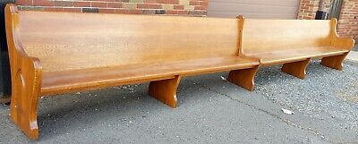20 Foot Very Long Church Pews bench Mad With Solid Oak