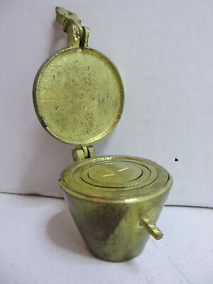 Antique 5 Pc Set Of Brass Cup Weights  #78