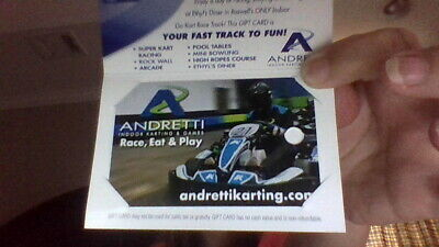 $25 Andretti Indoor Karting & Games Gift Card