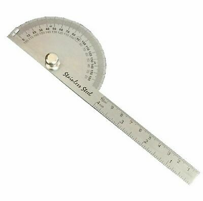 New SEA Rotary Protractor Angle Rule Gauge Machinist - Stainless steel