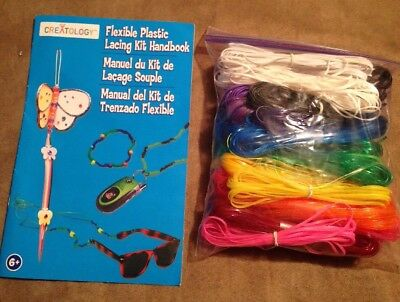 Flexible Plastic Lacing / Cord lot of 29 and Creatology Handbook