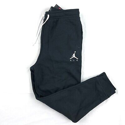 18b9c40682 Nike Air Jordan Jumpman GFX Fleece Jogger Pants Black White AV2323-010 Men's  L