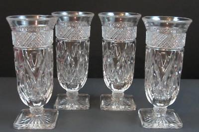 Vintage Imperial Glass Crystal Cape Cod Tall Cocktail Wine 4 oz Goblets Set of 4