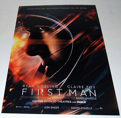 DAMIEN CHAZELLE signed (FIRST MAN) 12X18 movie poster photo *DIRECTOR* W/COA