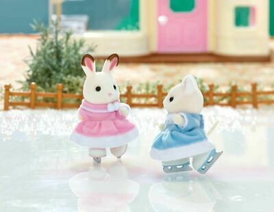 Calico Critters Ice Skate Friend Hopscotch Rabbit Susie Cat EPOCH Ballet Theater