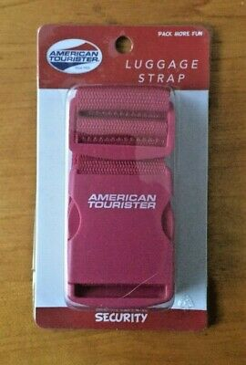 American Tourister Security Luggage Strap - Red or Green   - FREE SHIPPING