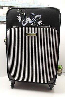 Vince Camuto 28-inch Expandable Spinner Luggage Floral Black NWT $400