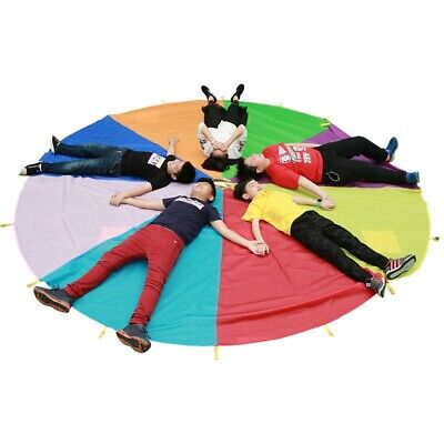 2m Kids Play Rainbow Parachute Outdoor Game Development Exercise Outdoor Toy