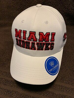 new styles 2281f 1380d Miami Redhawks Ncaa Top Of The World Teamwork Hat Cap Adj Snapback Osfm Nwt