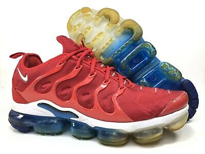 promo code d3f3e f9b67 Nike Air VAPORMAX Plus Size 11 USA University Red White Blue 924453-601