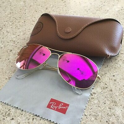 879ae87e17 RAY-BAN SUNGLASSES RB3362 COCKPIT 112 4T 59-14 135 2N Gold Cyclamen ...