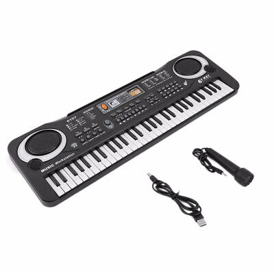Kids Children Multifunctional Mini Electronic Piano With Microphone 61 Keys Toy
