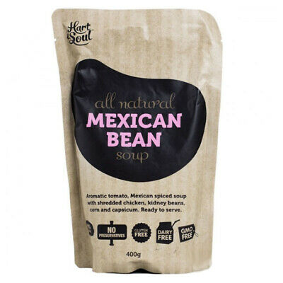 HART & SOUL MEXICAN BEAN SOUP ALL NATURAL KIDNEY BEANS GLUTEN & GMO FREE 400g