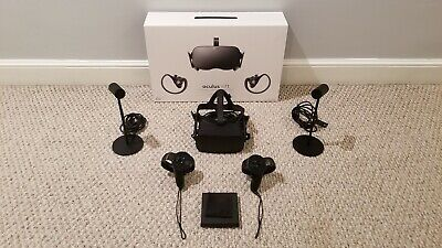 Oculus Rift VR Headset with Touch Motion Controllers and Dual Sensors