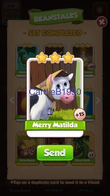 X1 Merry Matilda Coin Master trading card !!!Super Fast Dispatch!!!